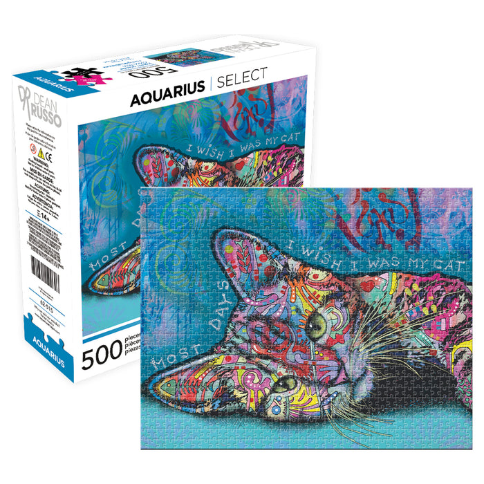 Dean Russo - Cat 500pc Puzzle | Cookie Jar - Home of the Coolest Gifts, Toys & Collectables
