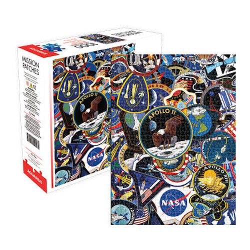 NASA Mission Patches 1,000pc Puzzle | Cookie Jar - Home of the Coolest Gifts, Toys & Collectables
