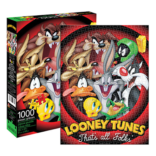 Looney Tunes - That's All Folks 1000pc Puzzle | Cookie Jar - Home of the Coolest Gifts, Toys & Collectables