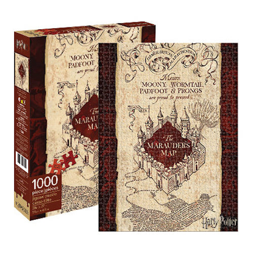 Harry Potter - Marauders Map 1000pc Puzzle | Cookie Jar - Home of the Coolest Gifts, Toys & Collectables