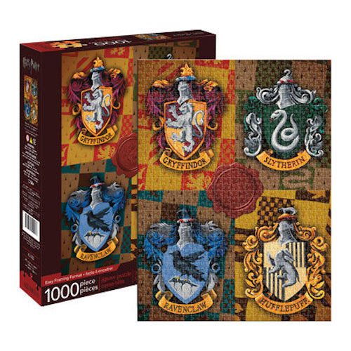 Harry Potter - Crests 1000pc Puzzle | Cookie Jar - Home of the Coolest Gifts, Toys & Collectables