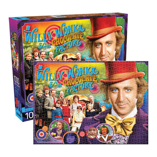 Willy Wonka Collage 1000pc Puzzle | Cookie Jar - Home of the Coolest Gifts, Toys & Collectables