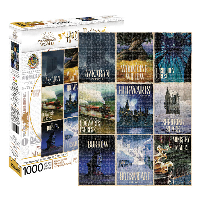 Harry Potter - Travel Posters 1000pc Puzzle