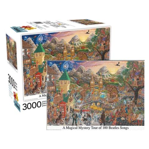 A Magical Mystery Tour of 100 Beatles Songs 3000pc Puzzle | Cookie Jar - Home of the Coolest Gifts, Toys & Collectables