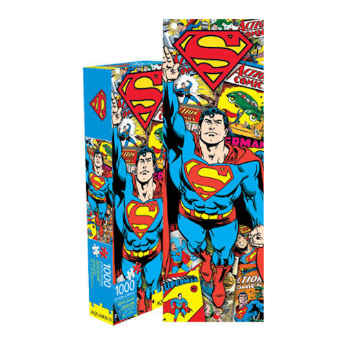 Superman Retro 1000pc Slim Puzzle | Cookie Jar - Home of the Coolest Gifts, Toys & Collectables