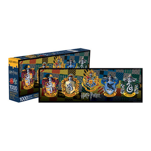Harry Potter Crests 1000pc Slim Puzzle | Cookie Jar - Home of the Coolest Gifts, Toys & Collectables