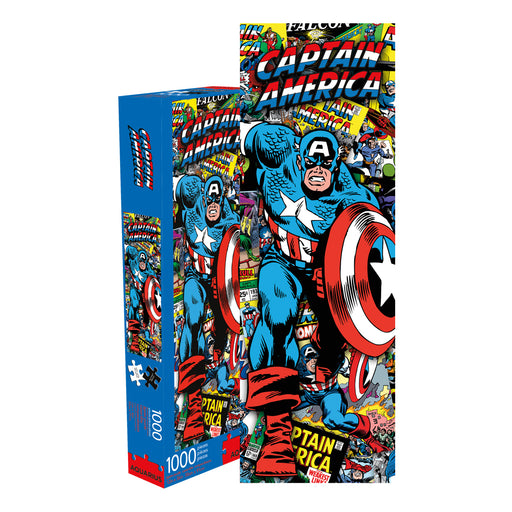 Marvel - Captain America Collage 1000pc Slim Puzzle | Cookie Jar - Home of the Coolest Gifts, Toys & Collectables