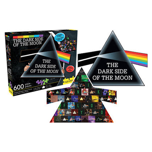 Pink Floyd - Dark Side Collage & Prism 600pc Double Sided Puzzle