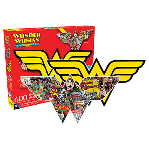Wonder Woman Logo & Collage Double Sided 600pc Puzzle | Cookie Jar - Home of the Coolest Gifts, Toys & Collectables