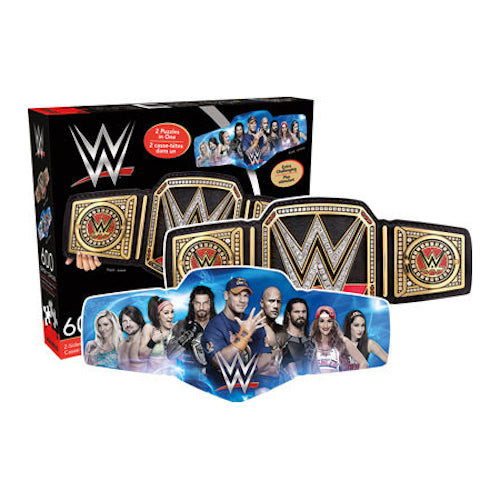 WWE Belt 600pc Double Sided Puzzle | Cookie Jar - Home of the Coolest Gifts, Toys & Collectables
