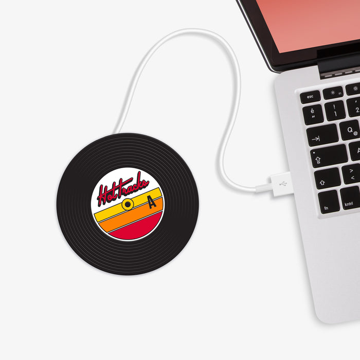 Mustard - Hot Tracks Vinyl Record USB Cup Warmer | Cookie Jar - Home of the Coolest Gifts, Toys & Collectables
