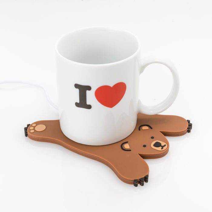 Mustard - Sleepy Bear USB Cup Warmer | Cookie Jar - Home of the Coolest Gifts, Toys & Collectables