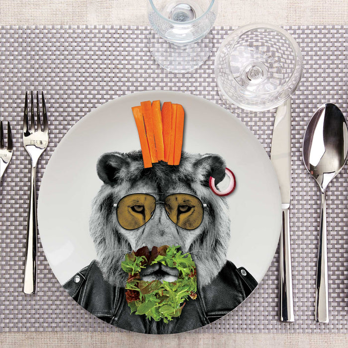 Mustard - Wild Dining - Larry Lion Ceramic Dinner Plate | Cookie Jar - Home of the Coolest Gifts, Toys & Collectables