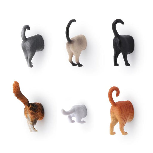 Kikkerland Set of 6 Cat Butt Magnets
