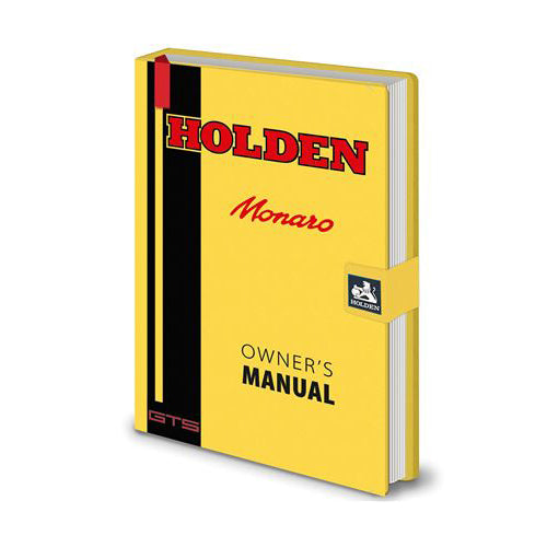Holden Monaro Owner's Manual Premium A5 Notebook | Cookie Jar - Home of the Coolest Gifts, Toys & Collectables