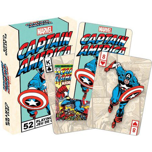 Marvel Captain America Retro Playing Cards | Cookie Jar - Home of the Coolest Gifts, Toys & Collectables