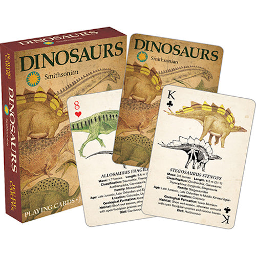 Smithsonian - Dinosaurs Playing Cards | Cookie Jar - Home of the Coolest Gifts, Toys & Collectables