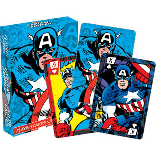 Marvel - Captain America Comics Playing Cards | Cookie Jar - Home of the Coolest Gifts, Toys & Collectables
