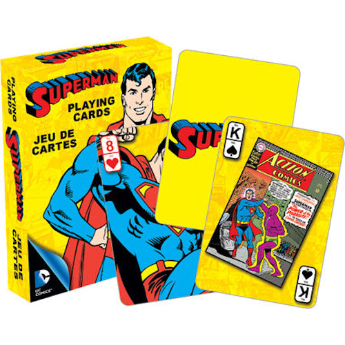 DC Comics Superman Retro Playing Cards | Cookie Jar - Home of the Coolest Gifts, Toys & Collectables