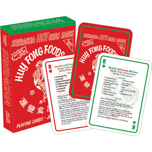 Sriracha Recipes Playing Cards