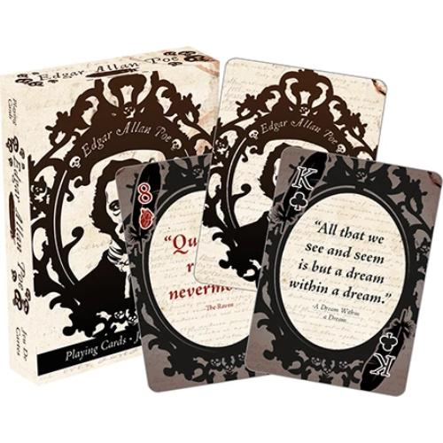 Edgar Allen Poe Playing Cards | Cookie Jar - Home of the Coolest Gifts, Toys & Collectables