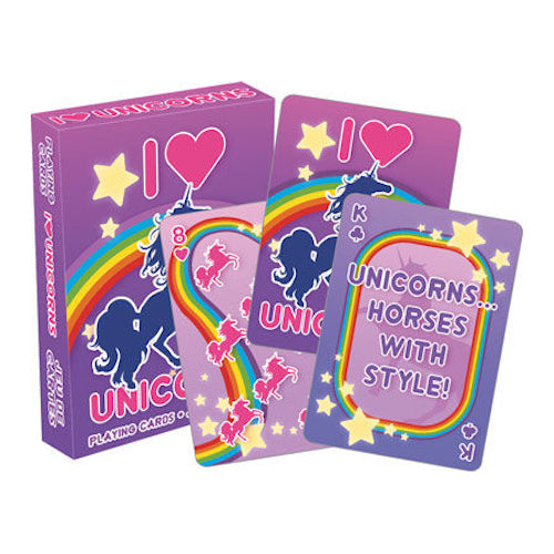 I Heart Unicorns Playing Cards | Cookie Jar - Home of the Coolest Gifts, Toys & Collectables