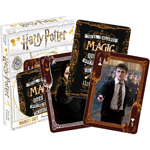 Harry Potter - Wands Out Playing Cards | Cookie Jar - Home of the Coolest Gifts, Toys & Collectables