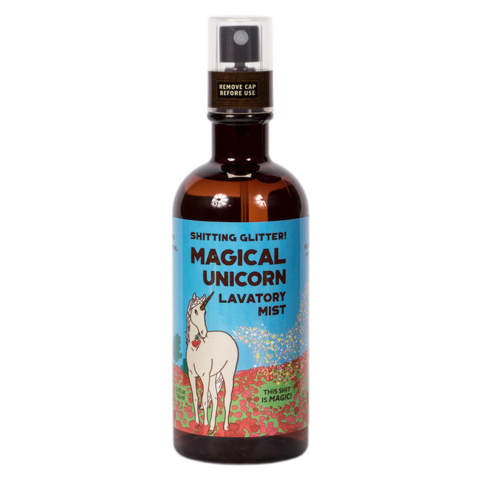 Blue Q - Sh*ting Glitter! Magical Unicorn Lavatory Mist | Cookie Jar - Home of the Coolest Gifts, Toys & Collectables
