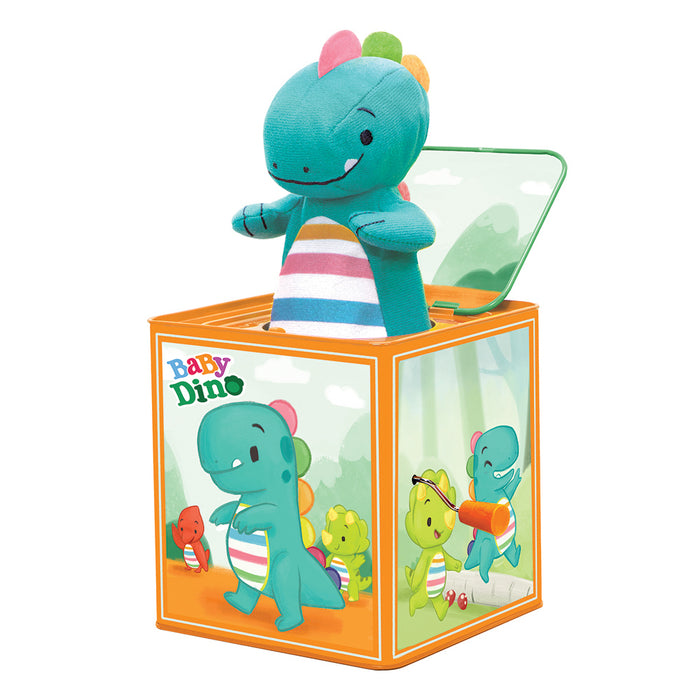 Schylling - Baby Dino Jack In Box | Cookie Jar - Home of the Coolest Gifts, Toys & Collectables