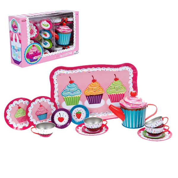 Schylling - Cupcake Tin Tea Set | Cookie Jar - Home of the Coolest Gifts, Toys & Collectables