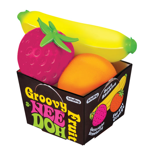 Schylling - Groovy Fruit Nee-Doh | Cookie Jar - Home of the Coolest Gifts, Toys & Collectables