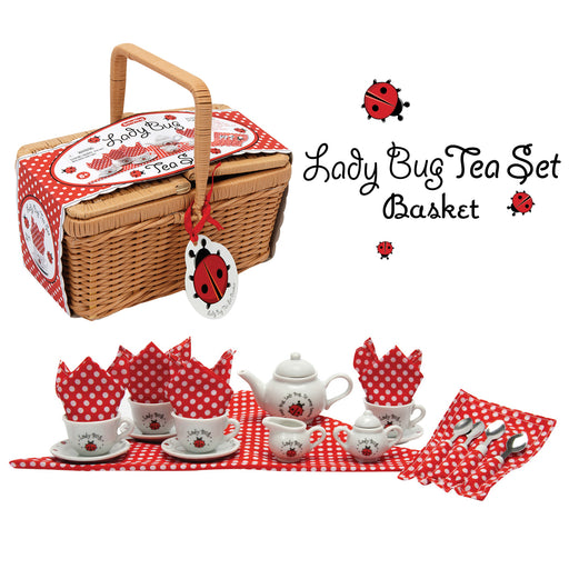Schylling - Ladybug Tea Set in Basket | Cookie Jar - Home of the Coolest Gifts, Toys & Collectables