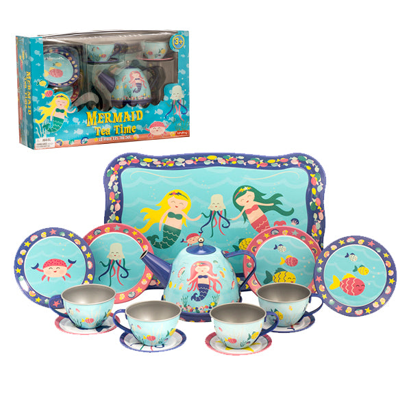 Schylling - Mermaid Tin Tea Set | Cookie Jar - Home of the Coolest Gifts, Toys & Collectables