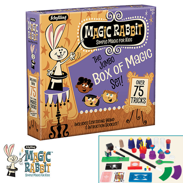 Schylling - Magic Rabbit Jumbo Box of 75 Magic Tricks | Cookie Jar - Home of the Coolest Gifts, Toys & Collectables