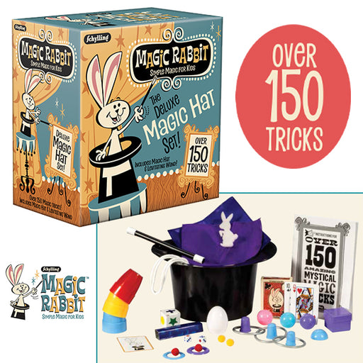 Schylling - Magic Rabbit Deluxe Magic Hat 150 Trick Set