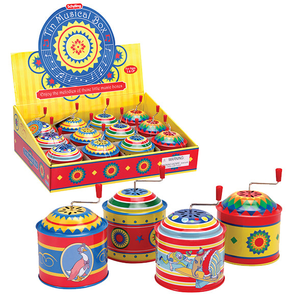 Schylling - Tin Music Boxes | Cookie Jar - Home of the Coolest Gifts, Toys & Collectables