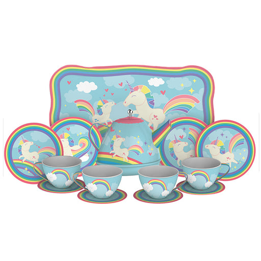 Schylling - Unicorn Tin Tea Set | Cookie Jar - Home of the Coolest Gifts, Toys & Collectables