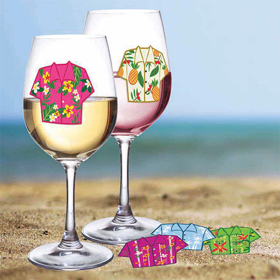 Hawaiian Shirt Drink Markers | Cookie Jar - Home of the Coolest Gifts, Toys & Collectables