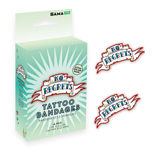 GAMAGO - 'No Regrets' Bandages | Cookie Jar - Home of the Coolest Gifts, Toys & Collectables