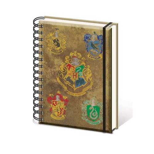 Harry Potter - House Crests A5 Notebook | Cookie Jar - Home of the Coolest Gifts, Toys & Collectables