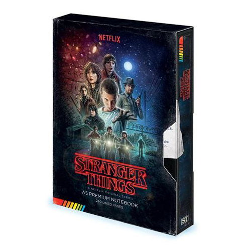 Stranger Things - VHS Premium A5 Notebook | Cookie Jar - Home of the Coolest Gifts, Toys & Collectables