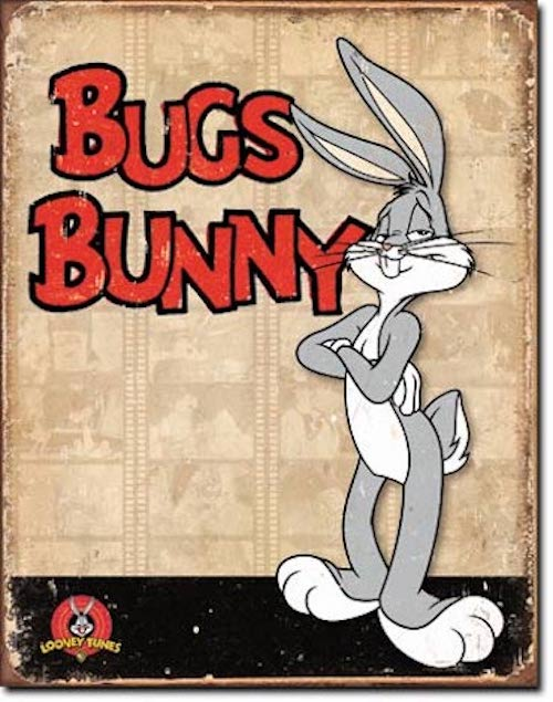 Bugs Bunny Retro Tin Sign | Cookie Jar - Home of the Coolest Gifts, Toys & Collectables