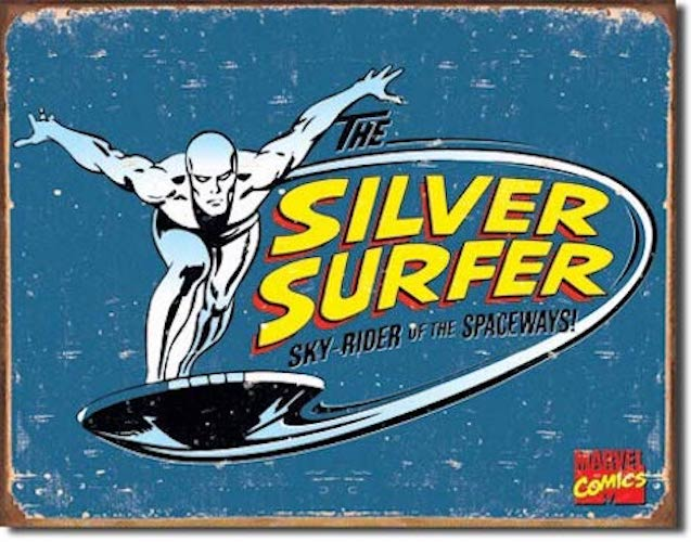 The Silver Surfer Retro Tin Sign | Cookie Jar - Home of the Coolest Gifts, Toys & Collectables
