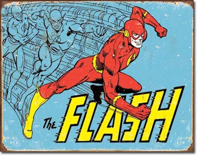 The Flash Retro Tin Sign