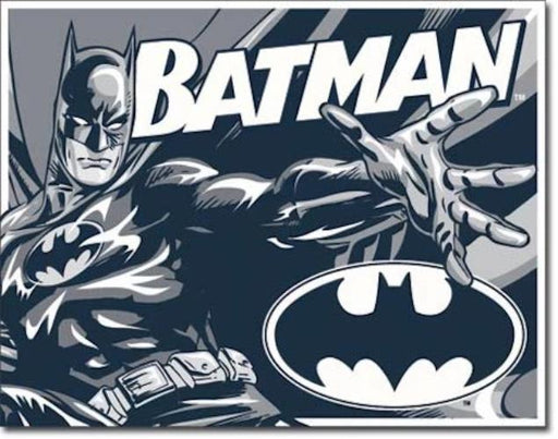 Batman Retro Tin Sign (Black, White & Grey) | Cookie Jar - Home of the Coolest Gifts, Toys & Collectables