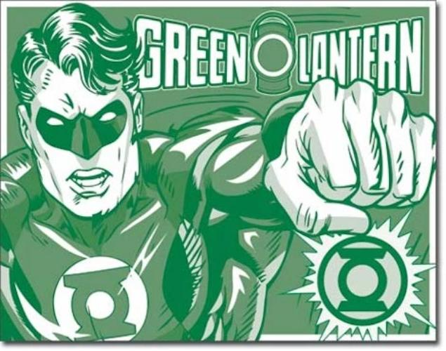 The Green Lantern Retro Tin Sign