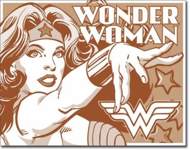 Wonder Woman Retro Tin Sign | Cookie Jar - Home of the Coolest Gifts, Toys & Collectables
