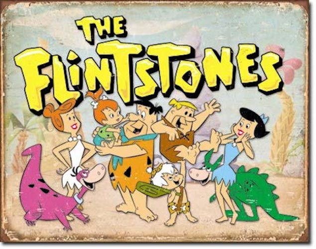 The Flintstones Retro Tin Sign | Cookie Jar - Home of the Coolest Gifts, Toys & Collectables
