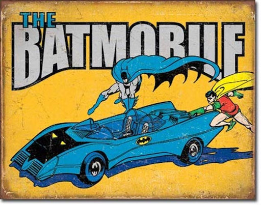 The Batmobile Retro Tin Sign | Cookie Jar - Home of the Coolest Gifts, Toys & Collectables