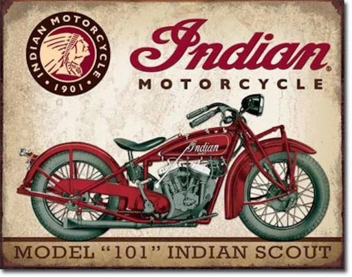 Indian Scout Retro Tin Sign | Cookie Jar - Home of the Coolest Gifts, Toys & Collectables